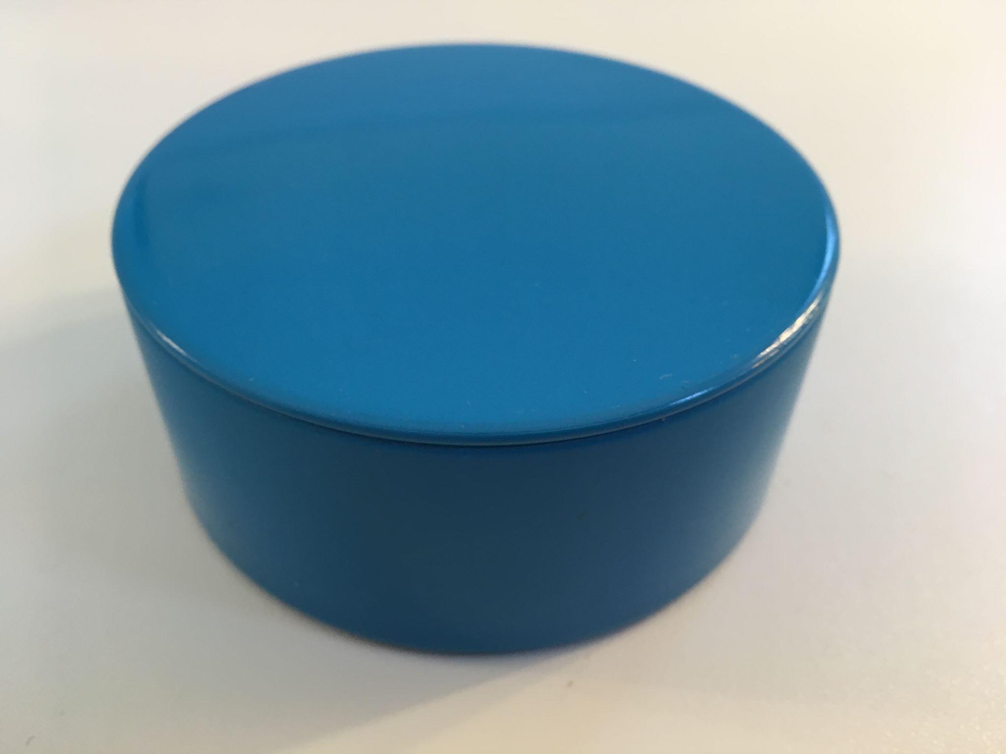 Blikken potje blauw