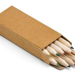Kartonnen doosje met 10 kleurpotloden